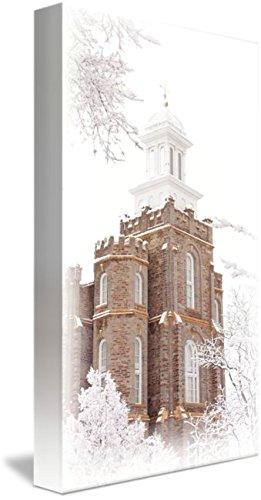 Imagekind Wall Art Print Entitled Logan Utah LDS Temple V (Narrow) by David Kocherhans   5 x 10
