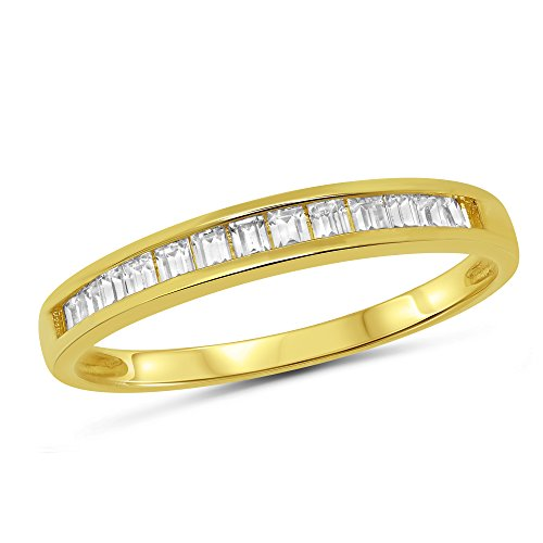 ette Channel Set Stackable Anniversary Ring Wedding Band - Size 10.5 ()