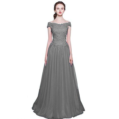 Vimans -  Vestito  - linea ad a - Donna grigio 46