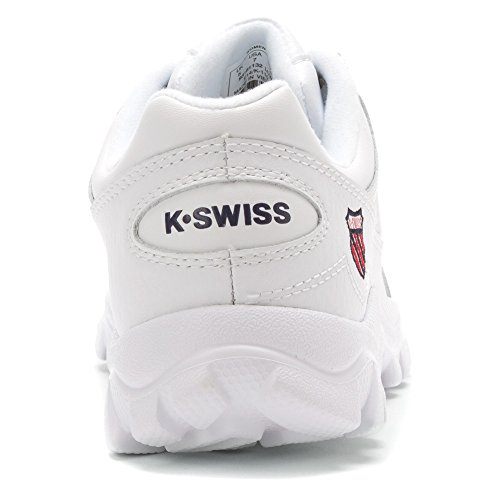 K-Swiss ST429 Donna Bianco Pelle Scarpe ginnastica 41,5 EU Nuovo