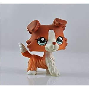 Great gifts store LPS pet Collie Dog Child Girl Figure Cute Toy Loose