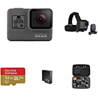 GoPro HERO5 Black w/ Head Strap, Carrying Case, Battery and Memory Card