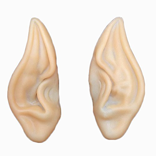 Hobbit Dwarves Costumes (1pair Hot Elf Fairy Hobbit Vulcan Spock Alien Cosplay Halloween Costume Ear Tips)