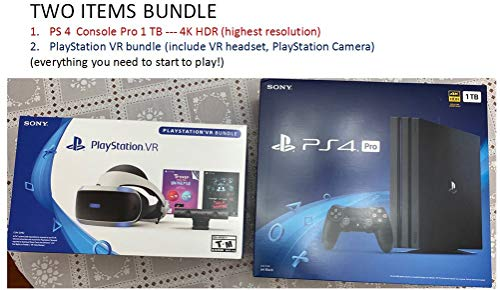 Sony PlayStation 4 Pro 1TB Console (4K HDR) and Playstation VR Gaming Bundle