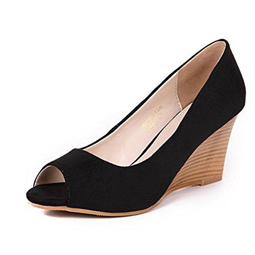 De Bouches Pente Chaussures Poisson Des Talons Seul Les Des Bouche Summer Sandales Chaussures Summer GTVERNH Des black 7Cm Femmes Hauts 5PFUgwqW