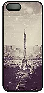 Eiffel Tower Personalized Personality Silicon Rubber Luxury Cover Case For Iphone 5 and 6 4.7 (Black & White) By ALL MY DREAMS!!