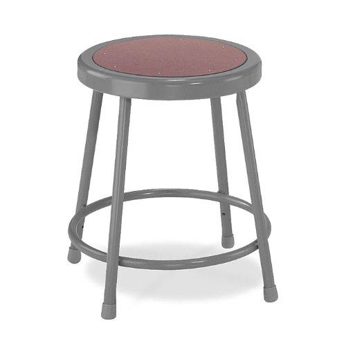 National Public Seating Steel Stool – 18in.H, Black, Model# 6218-10