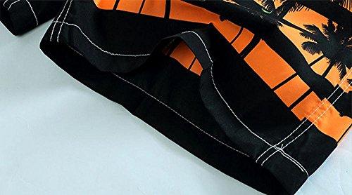 Hzcx Fashion Mens Relax Printed Beach Shorts Quick-dry Pockets Board Shorts 2017032902-36-GR-US 2XL(42″-44″) TAG 6XL