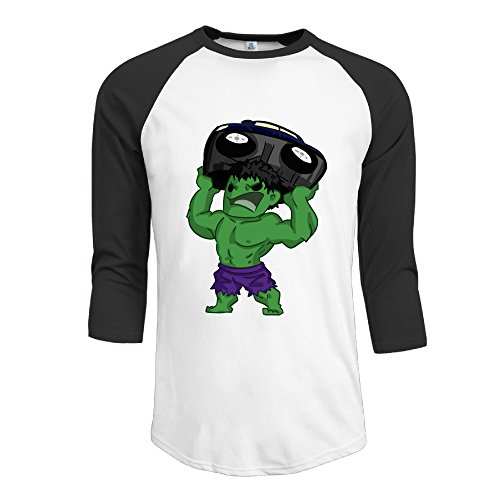 Raglan Banner (Man The Hulk Bruce Banner Lifting Cars 3/4 Raglan Shirts Baseball Jerseys)