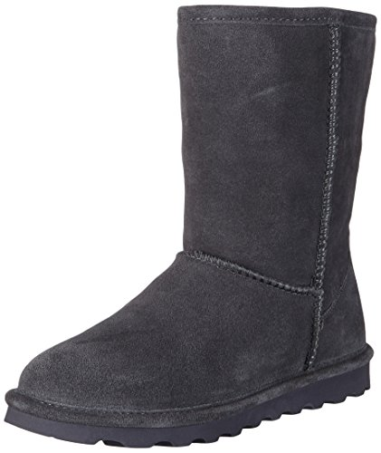BEARPAW Women's ELLE Short Fashion Boot, Charcoal, 8 M US