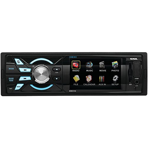 SOUND STORM SM316 Single-DIN 3.2 inch Screen MECH-LESS Multimedia Player (no CD or DVD), Receiver, Wireless Remote (Sound Delta Card)