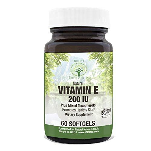 200 Iu Natural - Vitamin E Supplement by Natural Nutra – 200 IU, D-Alpha Tocopherol, 200 IU, 60 Softgels
