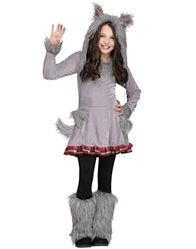 Wolf Halloween Costumes For Girls (Fun World Big Girl's Girl's Wolf Cub Costume Childrens Costume, Multi,)