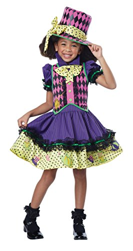 California Costumes Deluxe Mad Hatter-Ess Costume, Multi, Medium (Scary Couples Costume)