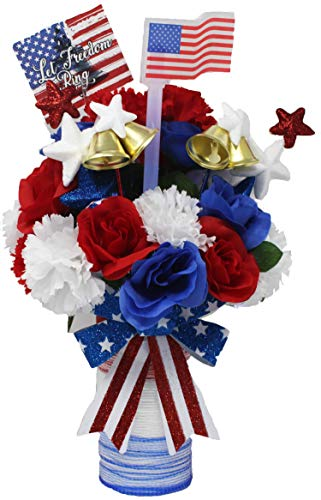 Let Freedom Ring Centerpiece Display. 4th of July