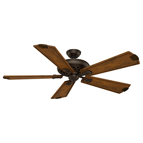 Casablanca 55035 Fellini 60-Inch Ceiling Fan with Five Walnut Blades and Wall Control, Brushed Cocoa