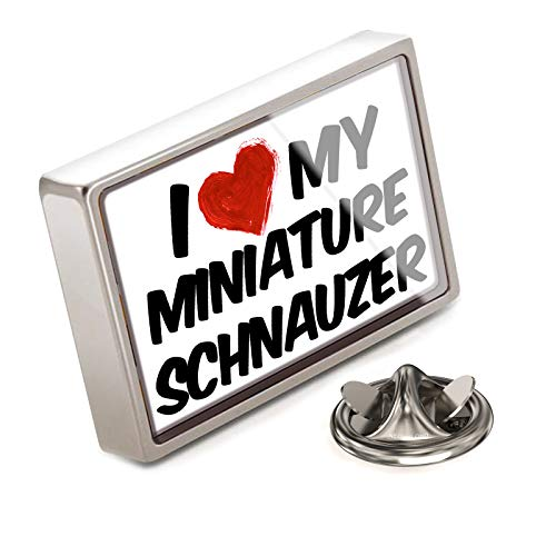 (NEONBLOND Lapel Pin I Love My Miniature Schnauzer Dog from Germany)