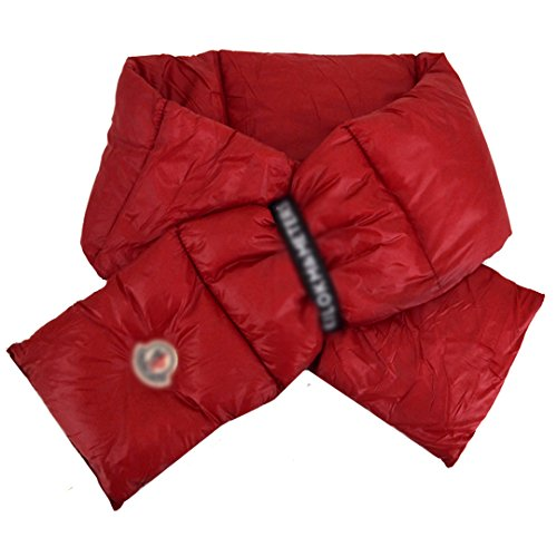 Down Scarf - Unisex Thermal Down Feather Scarf Down Coat Accessories Neck Warmer(Red)