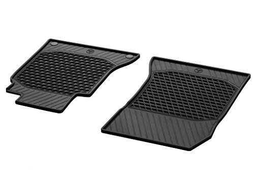 Genuine Mercedes 2015 C-class Sedan All-season Floor Mats, 2pc set for rear seats in BLACK. (Mercedes Sedan C-class)
