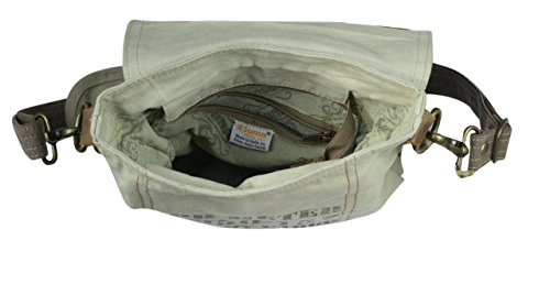 Sunsa Borse da Donna Vintage Borse a tracolla Borsette in Canvas / Telo olona con pelle 51729