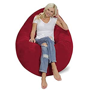 Amazon Com Chill Sack Bean Bag Chair Pillow Giant Memory