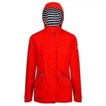 50fa04e23f3 Regatta Women's Basilia Waterproof and Breathable Hooded Outdoor Jacket,  Fiery Red, ...