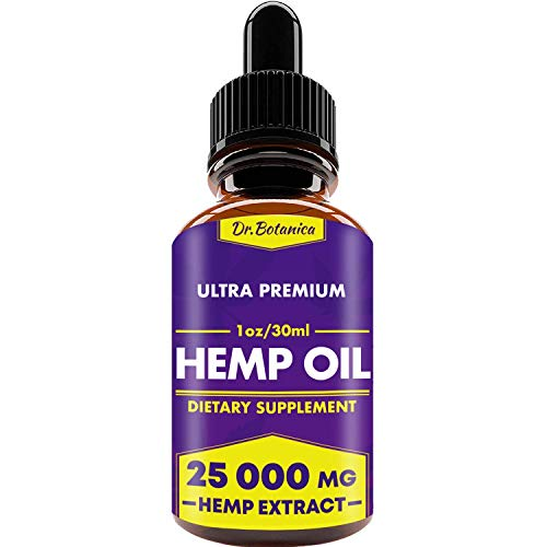 BIODENS Hemp Oil Drops, 25 000 mg, Natural CO2 Extracted, 100% Organic, Pain, Stress, Anxiety Relief, Reduce Insomnia, Vegan Friendly, Zero CBD, Zero THC (Hormonal Concentrated Support)