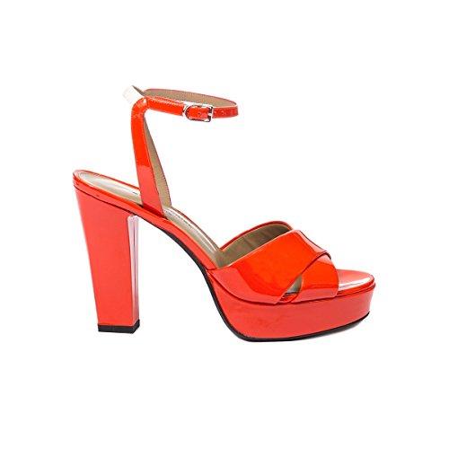 Sonia Rykiel Mujer 6059158140 Naranja Cuero De Charol Sandalias