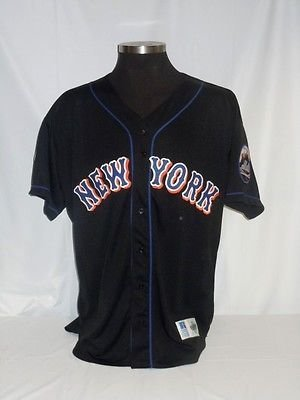 New York Mets Vintage Authentic Russell Black Jersey with Jackie ... a8b14b36b1a