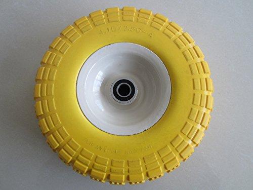 kunhua-11-pu-y-dh-16p-410350-4-flat-free-hand-truckutility-tire-225-offset-hub-58-ball-bearings-10-tire-diameterknobby-tread