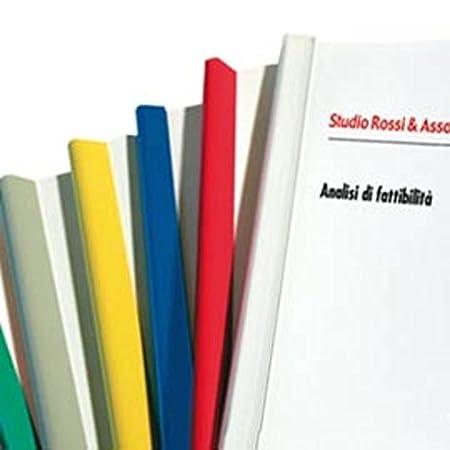 Fellowes 389934 Dorsi Rilegafogli, Diametro 16 mm, Confezione da 25 Pezzi, Rosso D116RO
