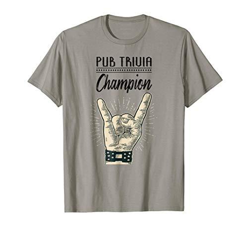 Mens Pub Trivia Champion Rock and Roll Bar Tee Shirt