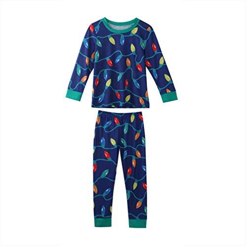 zhxinashu Pigiama di Natale Famiglia Abbigliamento da Notte Indumenti da Notte Bambini Adulti Capi di Abbigliamento Genitore-Figlio Colletto Verde/Mamma