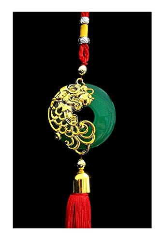 Betterdecor Handmade Feng Shui Chinese Dragon Hanging or Charm for Prosperity (with a Pouch)