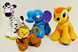 Fisher-Price Amazing Animals 4 Piece Set Includes Elephant , Zebra , Monkey and Bambi