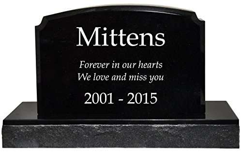 Custom Granite Personalized Engraved Memorial Pet Grave Marker- Traditional by Memorial Gallery