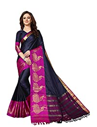 F4style Women Indian Designer Saree with Unstitched Blouse Piece