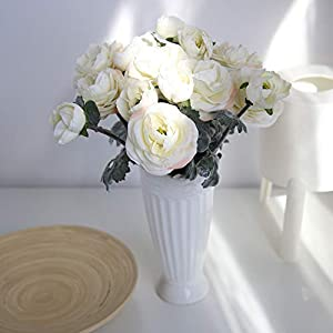 Juesi Artificial Flowers, Single Silk Peony Artificial Ranunculus Posy Lu Lotus Flower for Flowers Arrangement 45