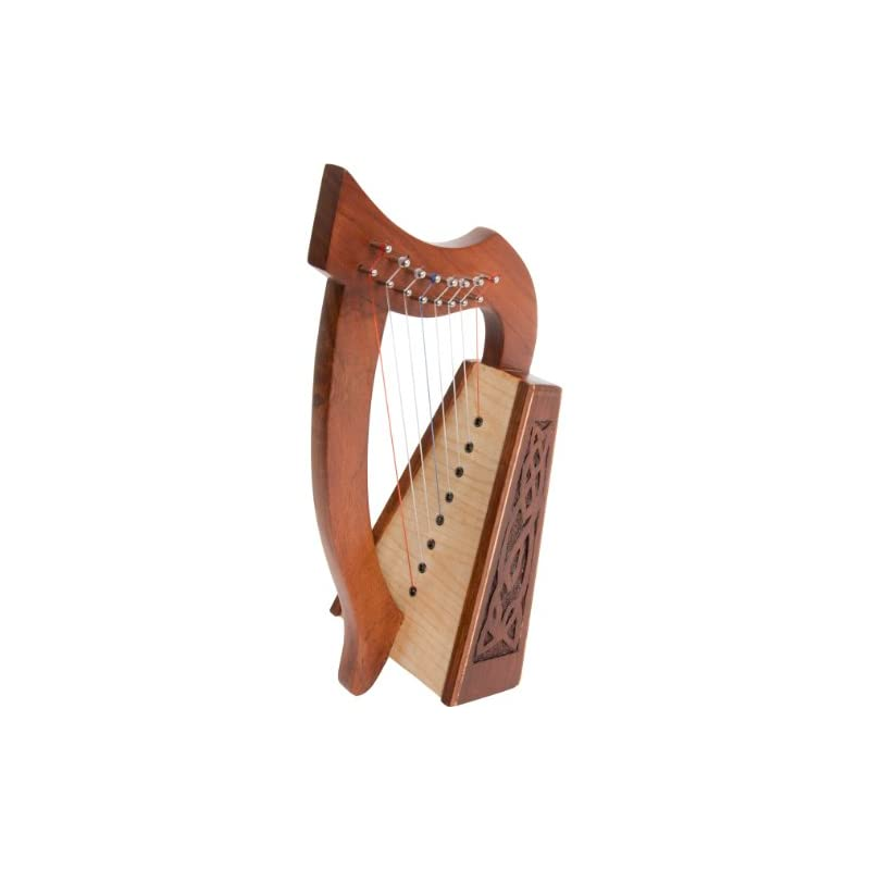 Roosebeck Lily Harp, 8 Strings, Knotwork
