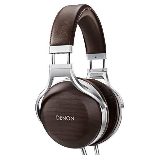 Denon AH-D5200 Over-Ear Premium Headphones (Zebrawood)