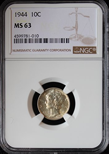 1944 Mercury Dime 10c MS-63 - Dimes Ngc