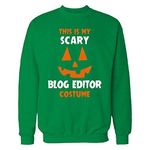 This Is My Scary Blog Editor Costume Halloween Gift - Sweatshirt Irish_green 3XL