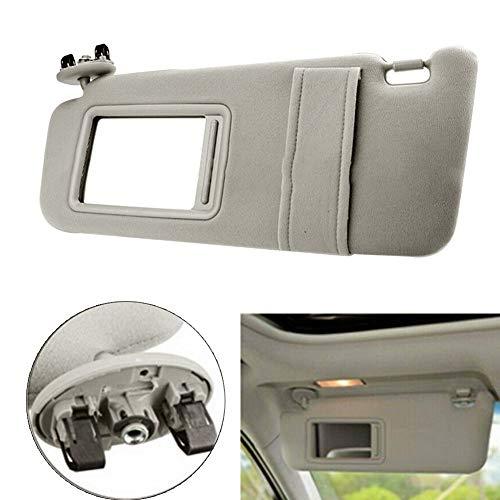 2011 12-14 Hyundai Sonata Sun Visor Set Pair Adjustable Arm Bars Covered Mirrors