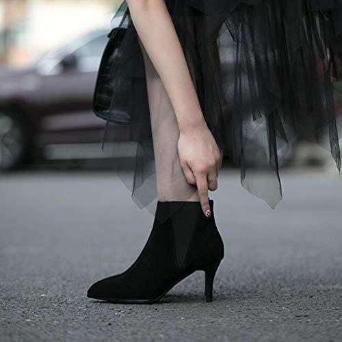 Stivaletti Delle Bootie Xue C In Moda Donne Scarpe Inverno Alta Pelle In Stivaletti Stivali Pelle Stivali Tacco singoli Autunno Scarpe STzqvwn