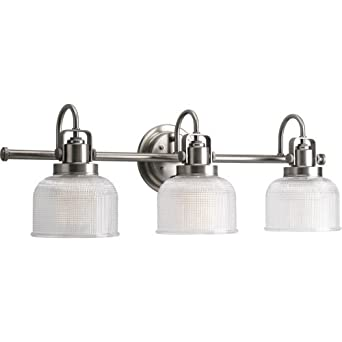 Progress Lighting P2992 81 Archie Three Light Bath Vanity  Antique Nickel Finish
