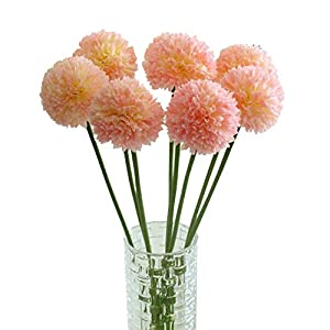 Clearance Artificial Flowers,Quaanti 5 pcs Lavender Ball Artificial Silk Flowers Bouquet Home Wedding Party Decor 38