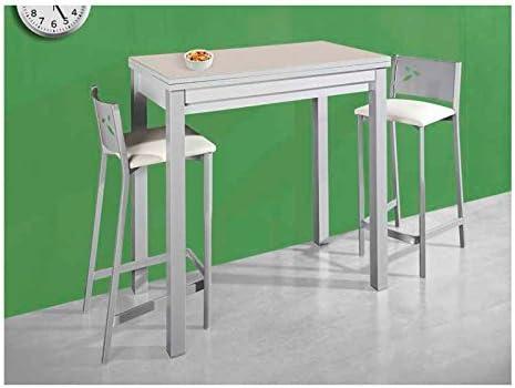 Amuebla 744. Mesa Alta DE Cocina DE 90 X 50 CM. Extensible ...