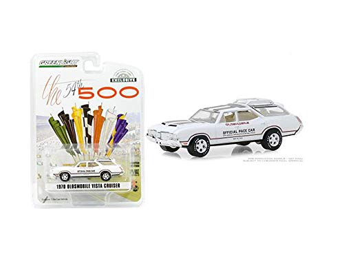 New DIECAST Toys CAR Greenlight 1:64 Hobby Exclusive - 1970 Oldsmobile Vista Cruiser - 54TH INDY 500 Official PACE CAR 30049