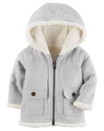 Carter's Baby Boys' 3M-24M Hooded Sherpa Zip Jacket 6 ()