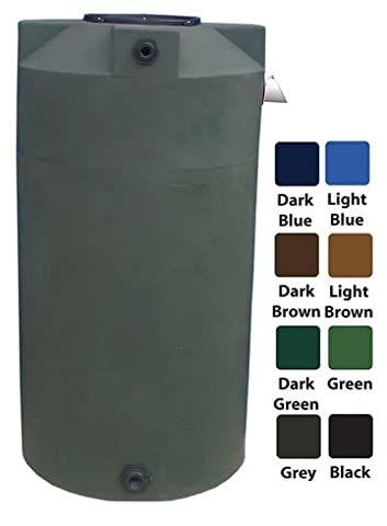 250 Gallon Rain Harvest Collection Tank, Black - Fitting Black Poly Bulkhead